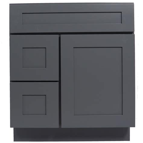 The Door Vanity by 30 Inch Bathroom Vanity Single Sink Cabinet In Shaker Gray