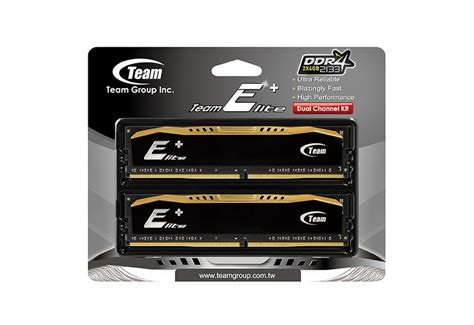 Team Elite Plus Black Ddr4 Pc19200 2400mhz Single Channel 16gb team releases ddr4 memory kit of up to 16 gb
