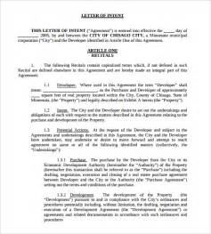 Real Estate Development Template by Sle Letter Of Intent For Application Accreditation In