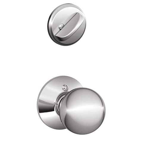 Schlage Chrome Door Knobs by Shop Schlage Orbit 1 5 8 In To 1 3 4 In Bright Chrome