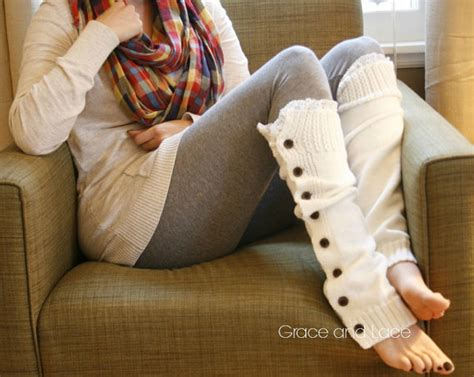 Leg Warmers Are Back by The Miss Molly White Slouchy Button By Graceandlaceco