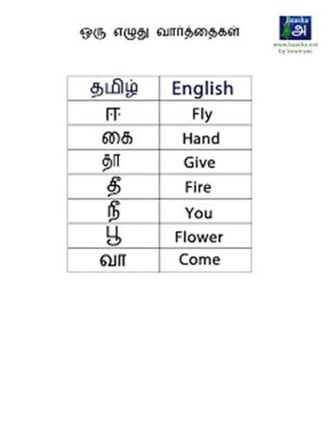 5 Letter Words In Tamil words list tamil baasha net