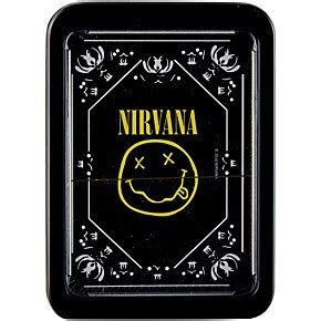 Musicians Friend Gift Card - iconic concepts nirvana smiley logo playing cards in tin gift box musician s friend
