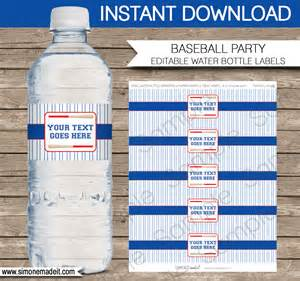 Diy Water Bottle Labels Template by Baseball Water Bottle Labels Birthday