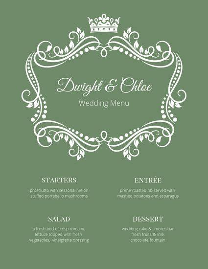 customize  fancy menu templates  canva
