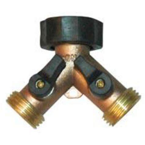 2 way brass water splitter shut off valve hose connectors valves