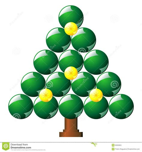 christmas tree made with balls stock images image 6555924