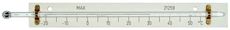 Thermometer Solid Stem solid stem maximum screen thermometer with laminate back