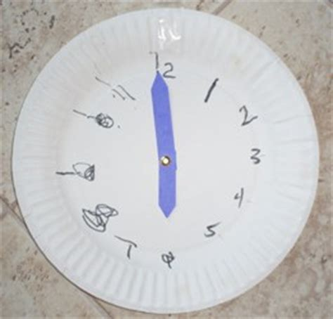 How To Make Clock From Paper Plate - paper plate clock activity christian parent