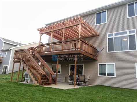 Deck Addition and New Pergola   Des Moines Deck Builder