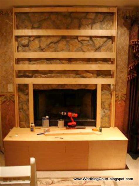 how to cover up fireplace diy fireplace makeover worthing court