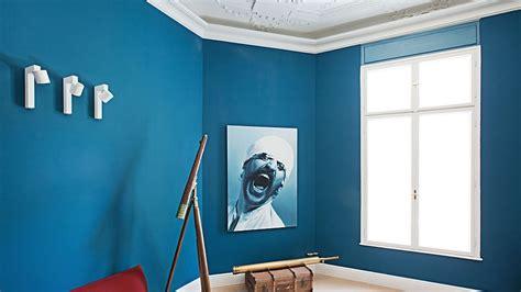 schreibtische großer arbeitsfläche wandfarbe blau k 252 che s
