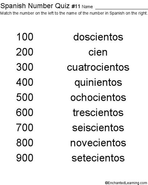 printable spanish numbers quiz spanish numbers quiz 11 printout children s dictionary
