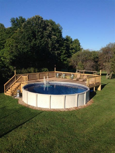 Diy Backyard Projects Pinterest Build An Inexpensive Above Ground Swimming Pool Diy