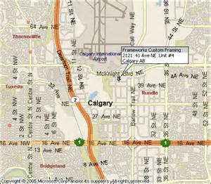 map of calgary alberta canada location of frameworks custom picture framing in calgary