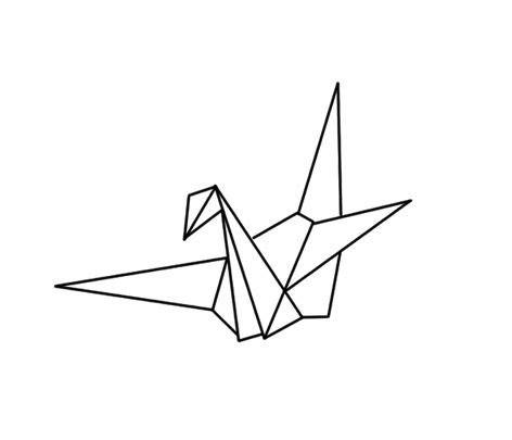 Origami Bird Drawing - dise 241 o p 225 jaros and dibujo on