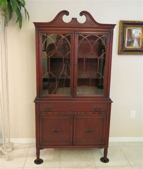Cherry China Cabinet by Antique Cherry China Cabinet Bernhardt Furniture Co For F