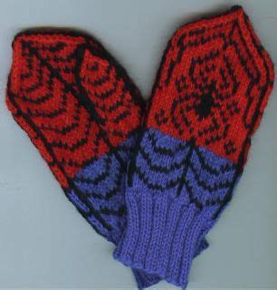 free knitting pattern of spiderman spidey mittens knit spiderman mittens abby baby