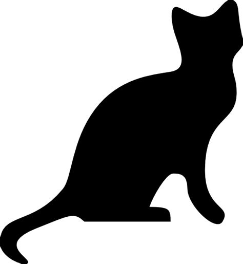 free clipart silhouette cat silhouette clip free vector in open office drawing
