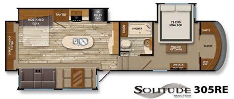 Surveyor Travel Trailers Floor Plans used 2014 grand design solitude 305re fifth wheel at