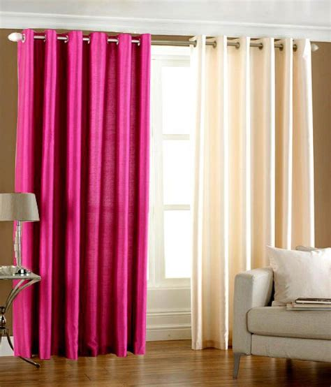 pink and cream curtains flano plain eyelet curtain 4ft set of 2 pink cream