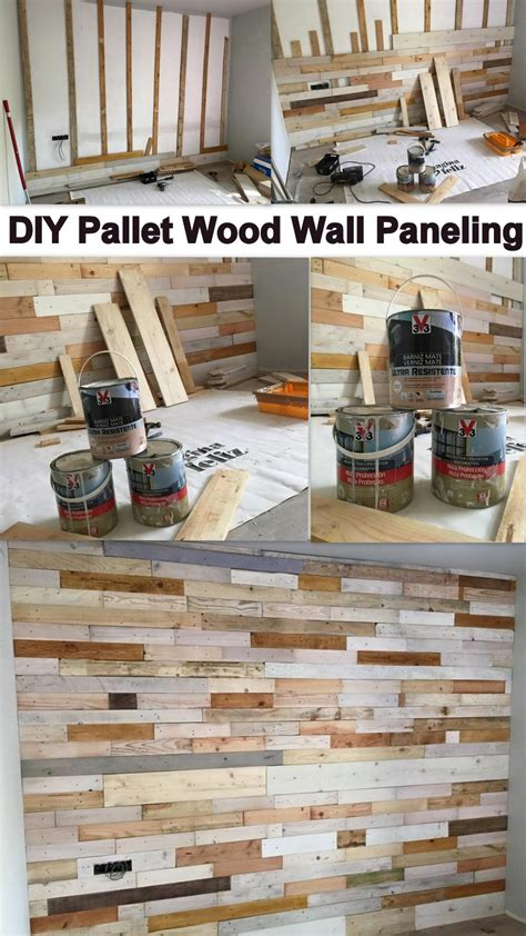 diy wood panel wall diy pallet wood wall paneling my decor home decor ideas