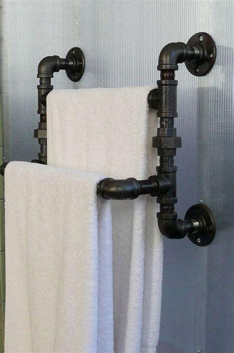 Steel Pipe Plumbing by Steel Pipe Towel Rack By Steelgoods On Etsy 125 00 For