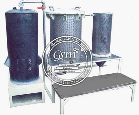 mesin destilasi penghasil minyak astiri sistem boiler