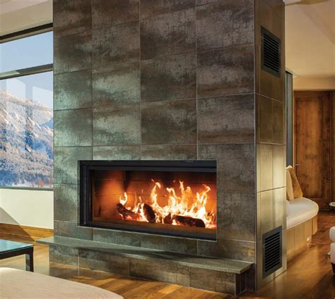 Linear Wood Burning Fireplace renaissance rr50 linear wood burning fireplace