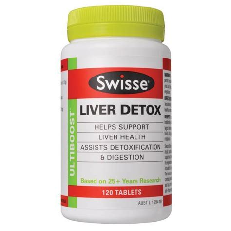 Liver Detox Tablets Chemist Warehouse by Swisse Ultiboost Liver Detox 120 Tablets Chempro