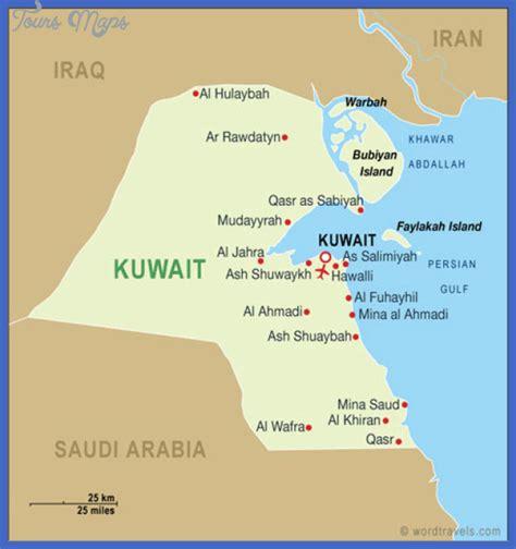 kuwait iraq map kuwait map toursmaps