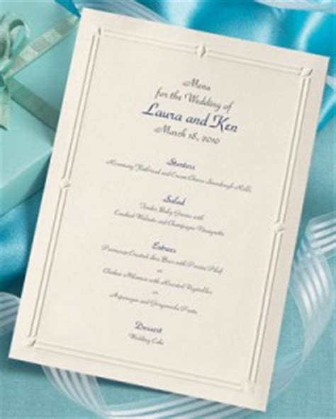 Paper Direct Place Card Template by Wedding Menu Wording Suggestions Tips Paperdirect