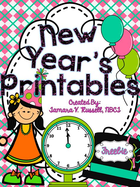 new year kindergarten primary chalkboard freebie new year s printables