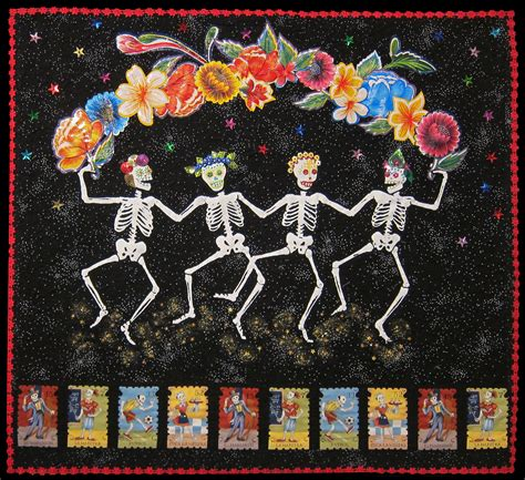 quilt pattern of the day day of the dead quilt by do palma dia de los muertos