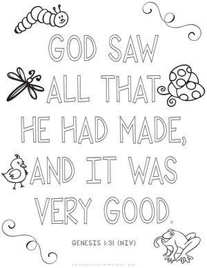 Genesis 1 Coloring Page by Genesis 1 Coloring Sheets Coloring Pages