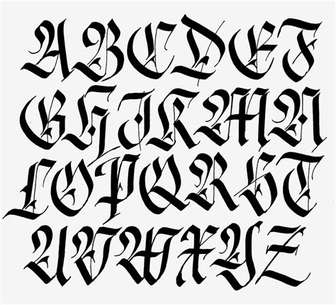 xavier tattoo fonts alfabeto fraktur hecho con parallel penfraktur alphabet