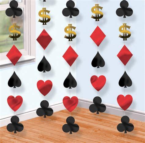 casino hanging string decorations cards vegas