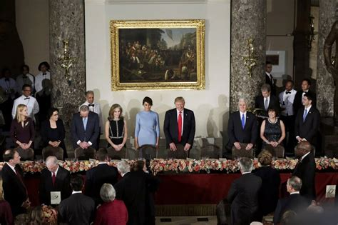 inaugural luncheon head table donald trump s inauguration live analysis