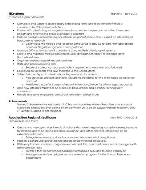 Teksystems Background Check Shannon Fiorentino Resume 3