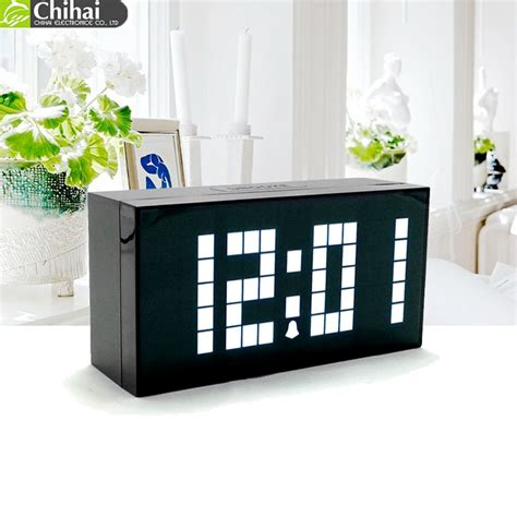alarm digital clock led table clock single face display