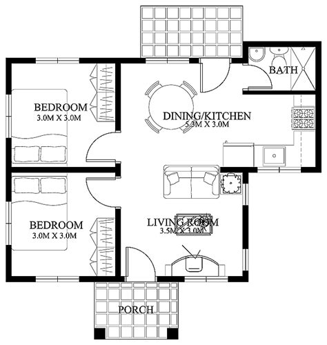 Free Small House Floor Plans Philippines Free Small Home Floor Plans Small House Designs Shd