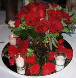 Centerpiece ideas for a wedding red roses
