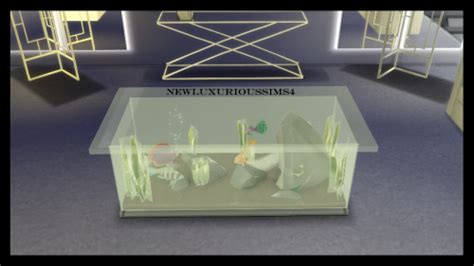 COFFEE TABLE AQUARIUM functional at NEW Luxurious Sims 4