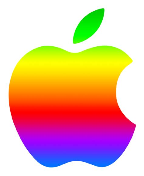 colored apple colored modern apple logo 2 by greenmachine987 on deviantart