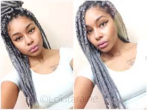 marley silver hair grey yarn braids box braids yarn braids