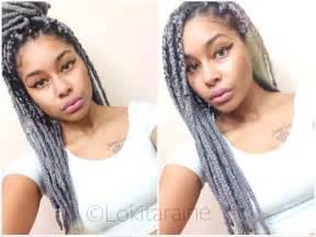 gray marley hair grey yarn braids poetic justice protective style