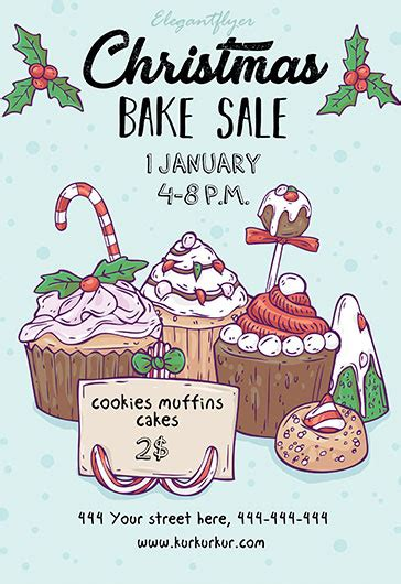 Holiday Bake Sale Flyer Template