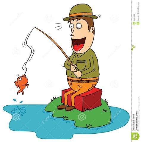 picture illustration lucky fisherman royalty free stock images image 33004389