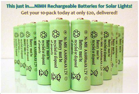 best rechargeable aa batteries for solar lights nimh nickel metal hydride rechargeable batteries are