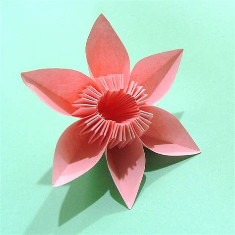 A Paper Flower - how to make origami flowers simple origami flower design